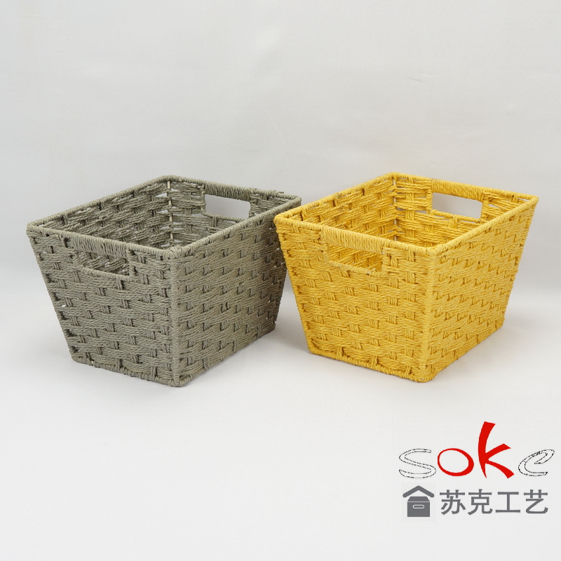 cheap paper rope storage basket for living room